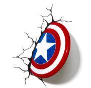 (R13B) 6x Marvel 3D Deco Light. 3x Spidey Hand. 1x Spidey Mask. 2x Captain America Shield.