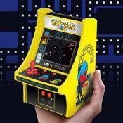 (R11C) 14x Mixed Mini Arcade Machines. 10x Pac Man. 1x Burger Time. 1x Galaga. 1x Retro Mini Arcade