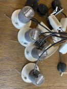 5 X Orluna White Led Ceiling Spot Lights With Transformer