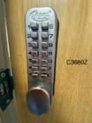 Secure Door With Keypad Access