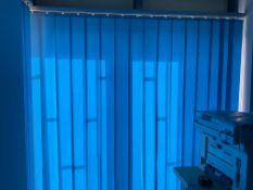 Blue Vertical Blind For Patio Doors 177Cm Wide X 214Cm High