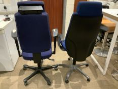 2 Blue Directors Office Chairs