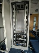 Server Rack With Built In Fans And Contents