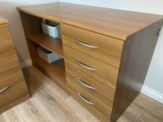 Wooden Filing Cabinets Office Storage Unit