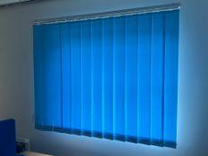 Blue Vertical Blind For Window 121Cm Wide X 120Cm High