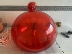3 Red Plastic. Hanging Lights