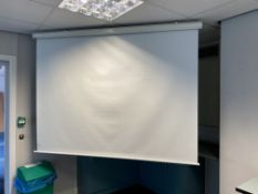 Electric Motorised Projector Screen 200Cm Wide X 140Cm High