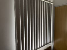 White Vertical Blind For Window 120Cm Wide X 115Cm High