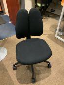 1 Black Ergonomic Office Chair. Split Back Rohde & Grahl