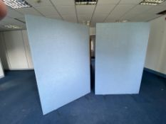 2 Room Partitions Blue Fabric