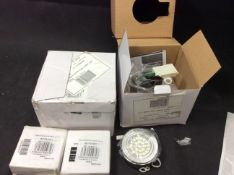 Bag of Electrical Items To Include Sensio IP44 Round Cabinet Light