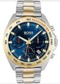 Hugo Boss 1513667 Men's Sport Intensity Two-Tone Gold & Silver Chronograph Watch