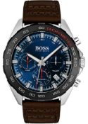 Hugo Boss 1513663 Men's Intensity Brown Leather Strap Chronograph Watch