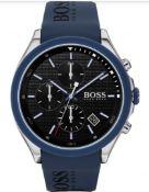 Hugo Boss 1513717 Men's Velocity Blue Rubber Strap Quartz Chronograph Watch
