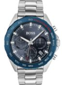 Hugo Boss Men's Intensity Silver Bracelet Chronograph Watch