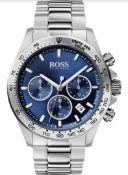 Hugo Boss 1513755 Men's Hero Lux Sport Silver Bracelet Chronograph Watch