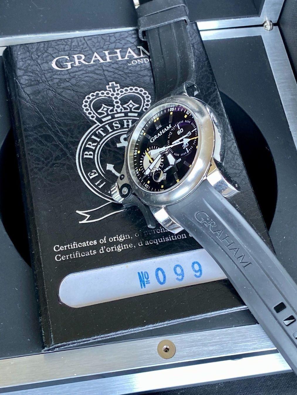 Graham / Chronofighter RAC Trigger - Gentlemen's Steel Wrist Watch - Image 5 of 14