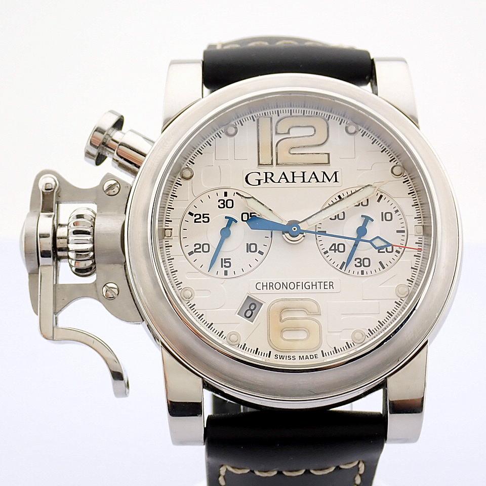 Graham / Chronofighter RAC - Gentlemen's Steel Wrist Watch - Image 3 of 12
