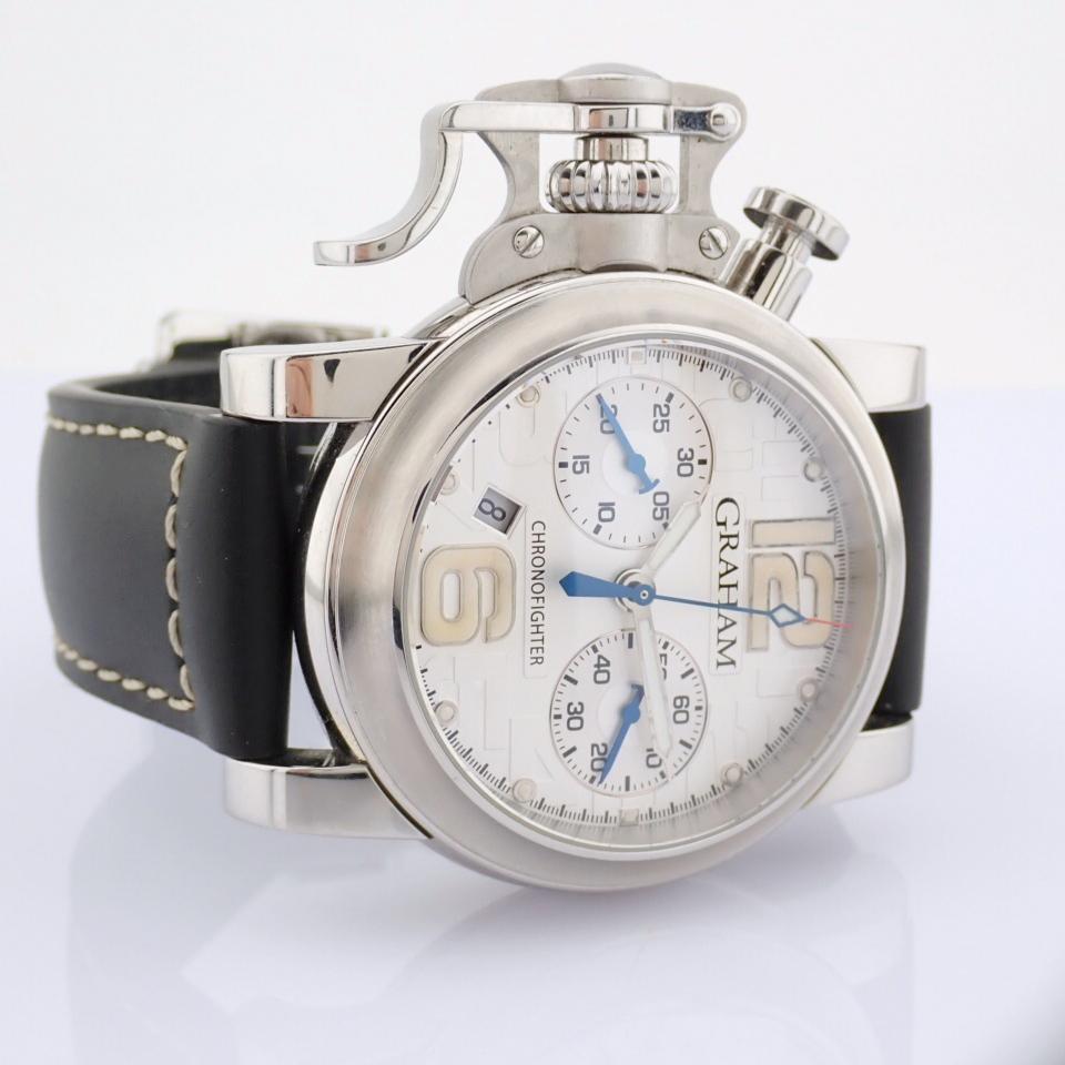 Graham / Chronofighter RAC - Gentlemen's Steel Wrist Watch - Image 6 of 12