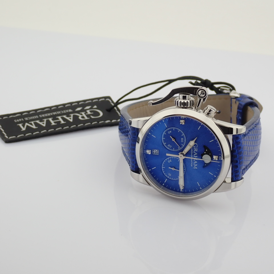 Graham / Chronofighter Lady Moon - Lady's Steel Wrist Watch - Image 13 of 15