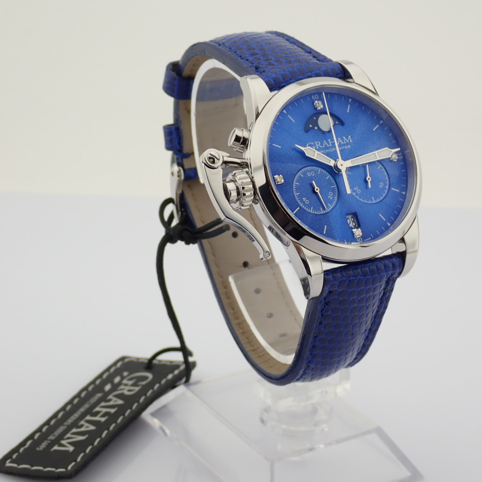 Graham / Chronofighter Lady Moon - Lady's Steel Wrist Watch - Image 10 of 15