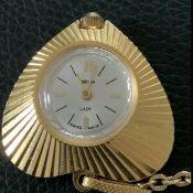Valtine Lady Gold Plated Pendant Watch (56 A)