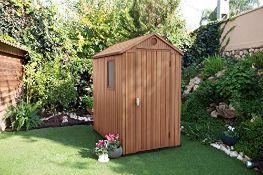 (R16) 1x Keter Darwin 4x6 Outdoor Plastic Garden Storage Shed RRP £340.