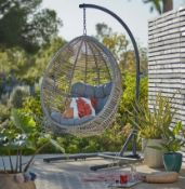 (R16) 1x Hartington Florence Collection Hanging Chair RRP £350 (Unit Comes With 6x Support Frame Pi