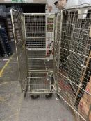 Warehouse Roll Cage Metal On Wheels Retail