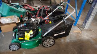 (R4A) 1x Qualcast 140cc Self Propelled Keystart Petrol Rotary Lawn Mower RRP £349. (Model XSZ46G-SD