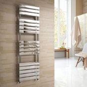 New & Boxed 1600x450mm Chrome Straight Towel Radiator Ladder Modern Bathroom. Rf1600450.