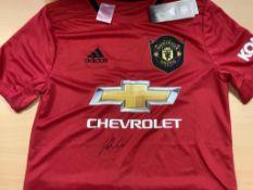 Marcus Rashford Manchester United Signed Shirt