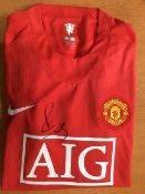Manchester United Replica Shirt Signed By Paul Scholes With COA
