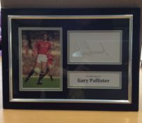 Garry Pallister Signed Framed Photo