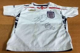 Frank Lampard & John Terry Hand Signed England Shirt
