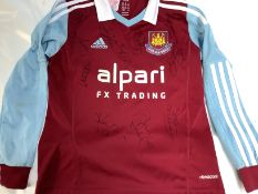 West Ham 2013/2014 Signed Squad Shirt, Andy Carroll, Mark Noble