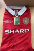 Dwight Yorke Signed Manchester United Football Shirt 1999