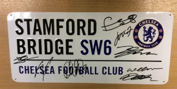 Chelsea Stamford Bridge Street Sign Plaque Signed