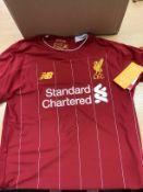 Mo Salah Signed Liverpool Shirt