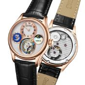 Limited Edition Hand Assembled Gamages World Tourbillon Rose White - 5 Year Warranty & Free Delivery