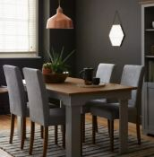 (R7K) 2x Diva Dining Chairs Grey RRP £125.