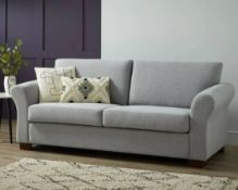 1x Hayley 3 Seater Sofa Moleskin RRP £500. Pine Wood Frame And Beech Wood Legs. (H)87 x (W)205 x