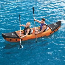 1x Hydro Force Lite Rapid X2 Kayak. Unit Inflated - Photo Taken The Next Day. (No Hand Pump With