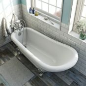 RRP £500. Traditional freestanding slipper bath 1550 x 750. Body Only