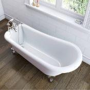 2 x Baths. Traditional Slipper Bath (Body Only). LH ÔLÕ Showering Bath.