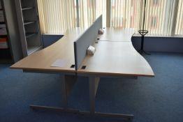 Hardwired Desk LH x2 & RH x2, W1600 Desk Screen Qty 2, Coat Stand Qty 1.