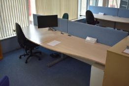 Hardwired Desk LH x2 & RH x2, Desk Screen x2, Task Chair x2, Monitor & Monitor arm x1, Pedestal 3