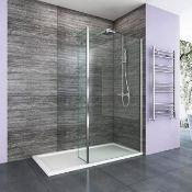 New (D21) 1000x300mm - 8mm - Premium Easyclean Wetroom And Rotatable Panel. RRP £499.99. 8mm...