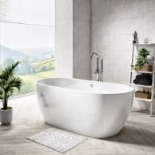 New (D9) Freestanding Round Bath Double Ended - 1455 x 740mm. Freestanding, Giving Flexibil...