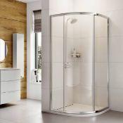 New (D19) 1000x1000mm - Elements 1 Door Quadrant Shower Enclosure. RRP £429.99. Shower Enclos...